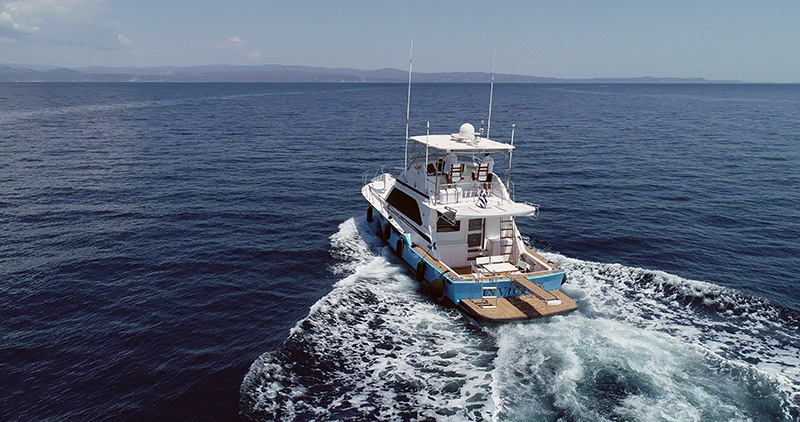 Bertram Motor Yacht Day Cruise to Mount Athos (from Ormos Panagias)