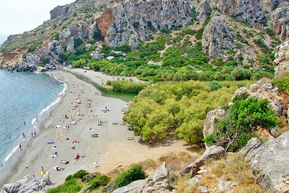 From Rethymno: Plakias and Preveli Beach Full-Day Trip
